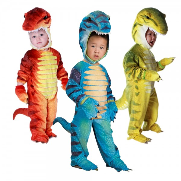 Velociraptor Dinosaur Costumes Party Halloween Animal Funny Suit for Kids & Toddler