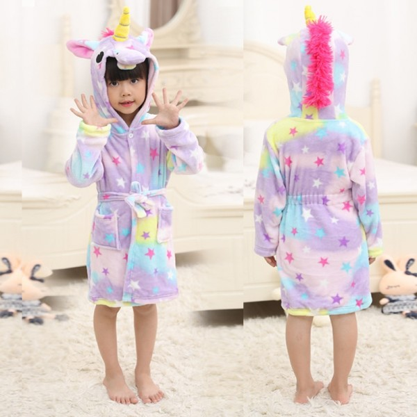 Dream Unicorn Boys & Girls Animal Robes Hooded Bathrobe