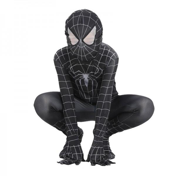 Toddler Venom Spiderman Costume Black Spiderman
