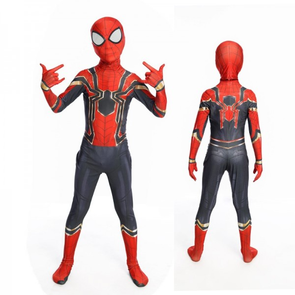 Toddler Iron Spiderman Costume Blue Spiderman