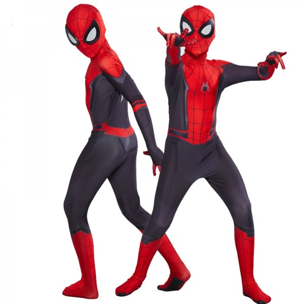 Kids Boys Spiderman Far From Home Suit Costumes Cospaly Onesie Suits