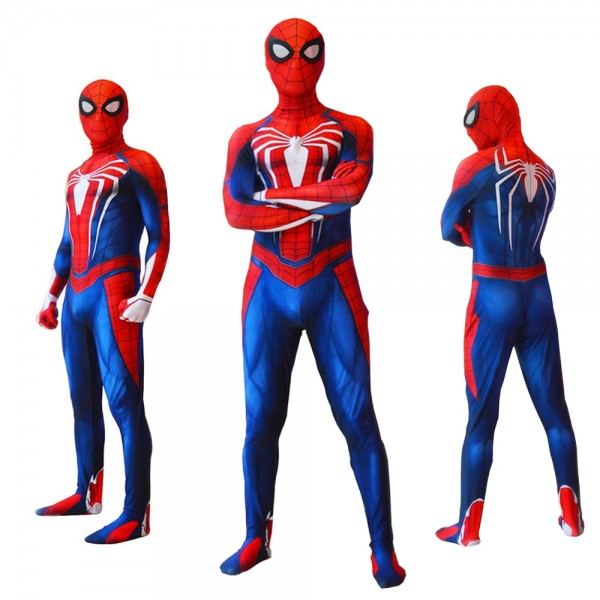 Spider Man Ps4 Advanced Suits for Kids & Adult Halloween Cosplay Costumes Spandex Zentai