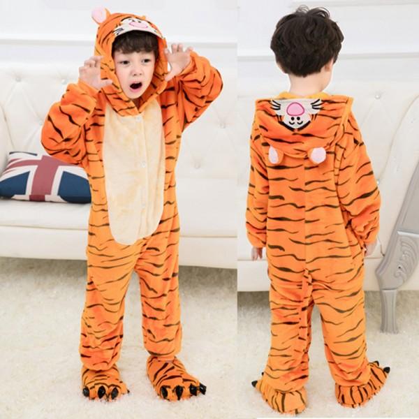 Tigger Kids Animal Onesie Pajamas Cute Costume