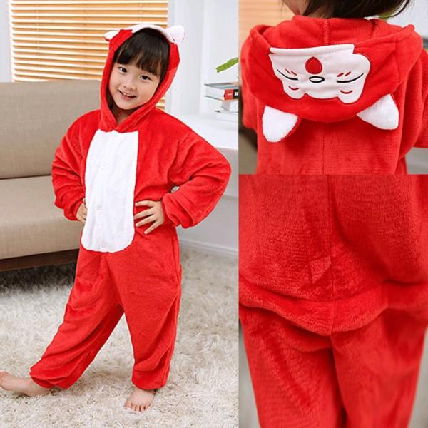 Red Fox Kids Animal Onesie Pajamas Anime Cute Costume