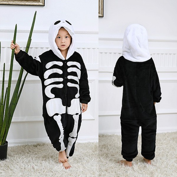 Skeleton Kids Animal Onesie Pajamas Cosplay Cute Costume