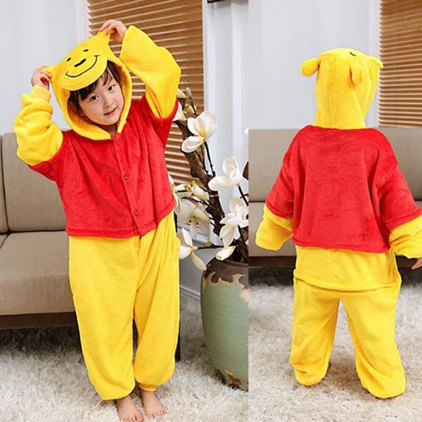 Winnie the Pooh Kids Animal Onesie Pajamas Cosplay Cute Costume