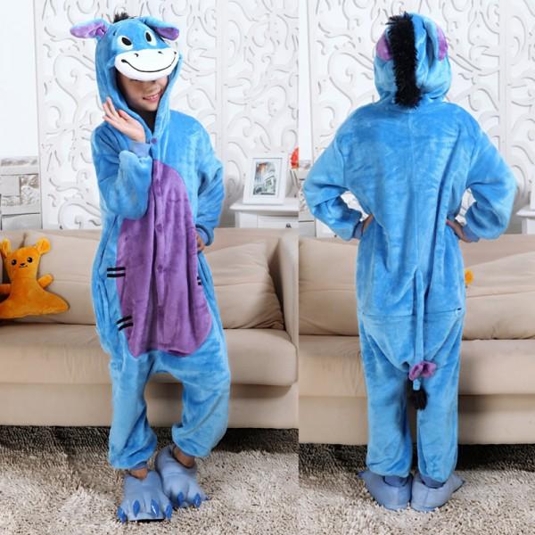 Eeyore Donkey Kids Animal Onesie Pajamas Winnie the Pooh Cute Costume