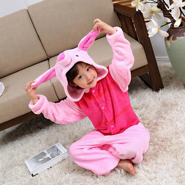 Piglet Kids Animal Onesie Pajamas Winnie the Pooh Cute Costume