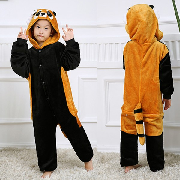 Red Panda Kids Animal Onesie Pajamas Cosplay Cute Costume