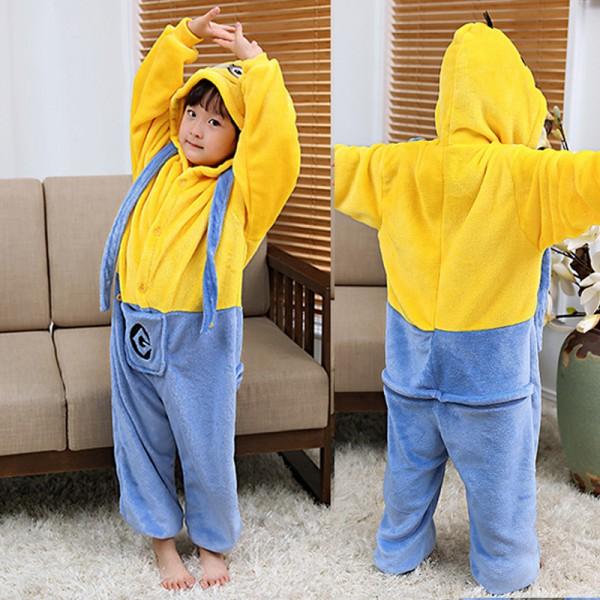 Minions Kids Animal Onesie Pajamas Cosplay Cute Costume