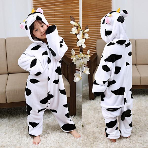 Cow Kids Animal Onesie Pajamas Anime Cute Costume