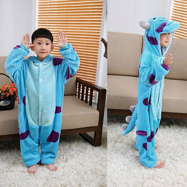 Sully Kids Animal Onesie Pajamas Cosplay Cute Costume