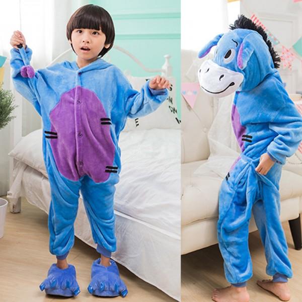 Eeyore Kids Animal Onesie Pajamas Winnie the Pooh Donkey Cute Costume