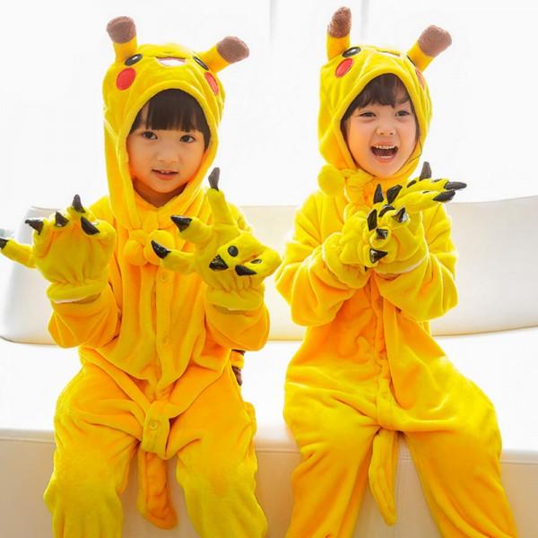 Pikachu Kids Animal Onesie Pajamas Cute Costume