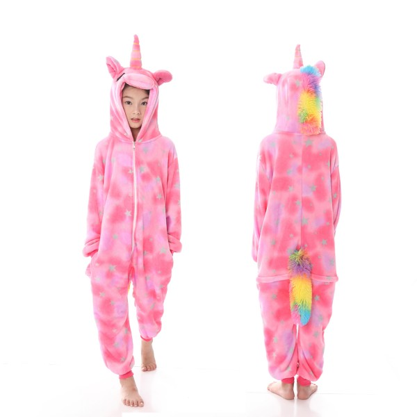 Pink Star Unicorn Onesie Pajamas Animal Onesies for Kids