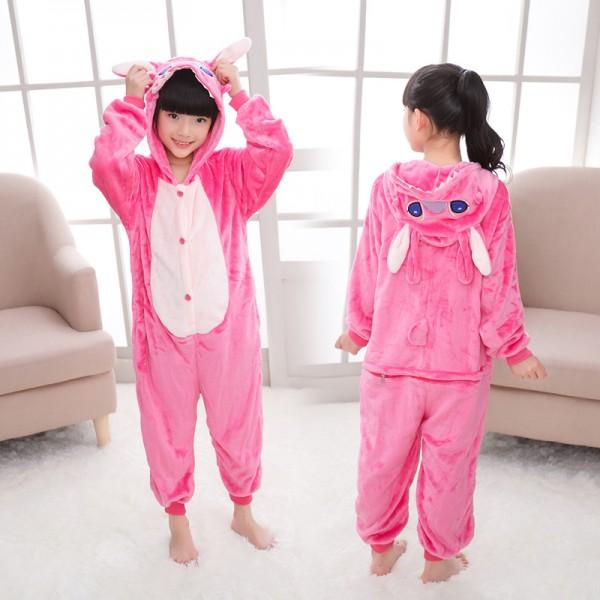 Pink Stitch Onesie Pajamas for Kids Animal Onesies Halloween Costumes