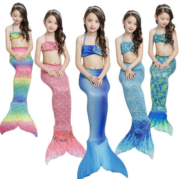 Mermaid Tails For Kids Girls Mermaid Swimsuits Bikini Sets