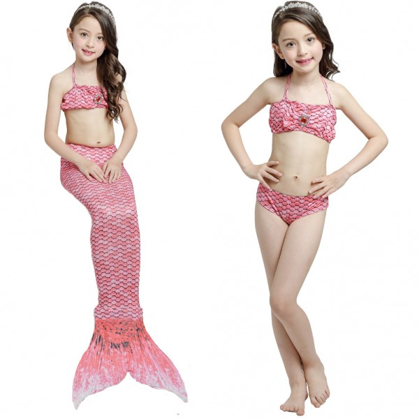 Pink Mermaid Tails For Girls Sale Kids Swimmable Mermaid Tail Bikini Costume
