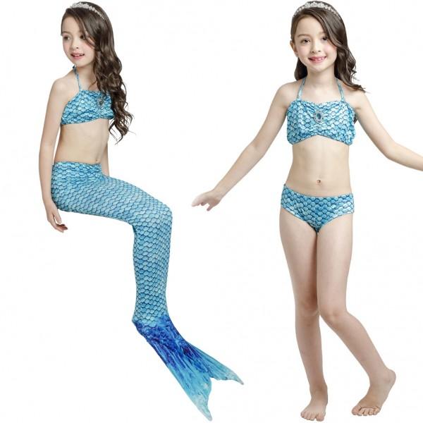 Mermaid Tails For Swimming Kids Girls Mermaid Swimsuits Costume Bathing Bikini Set