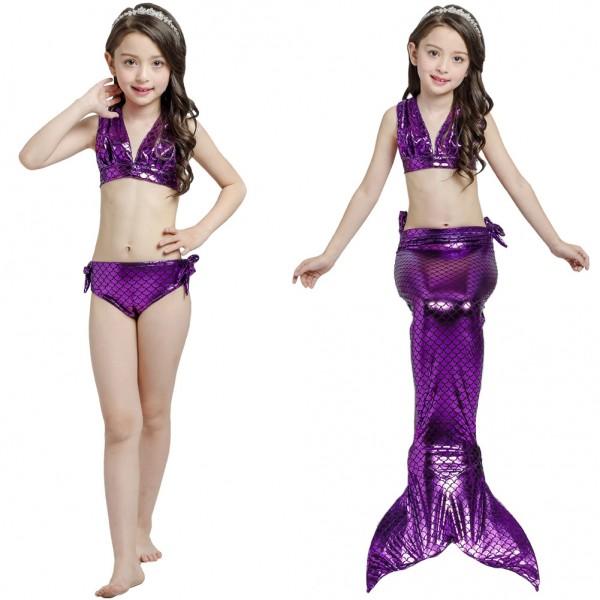 Kids Cheap Swimmable Mermaid Tails For Girls Mermaid Swimsuits Costume Bikini Set