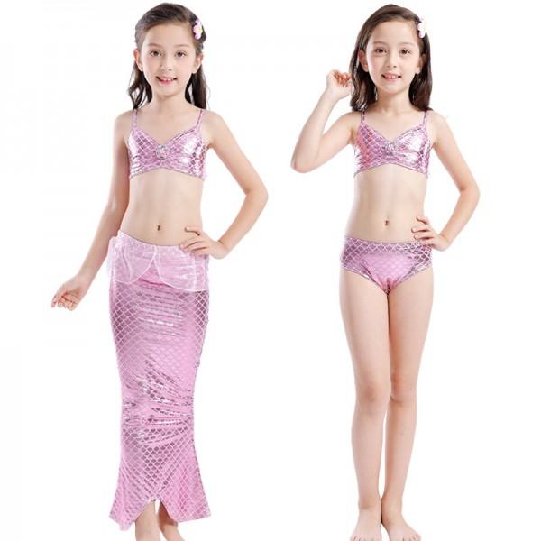 Mermaid Tale Dress For Kids Girls Swimsuits Bikini Mermaid Costume
