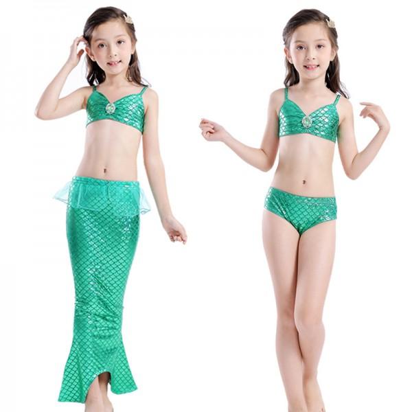 Toddler Girls Mermaid Tails Dress Swimsuit Bikini Mermaid Costume
