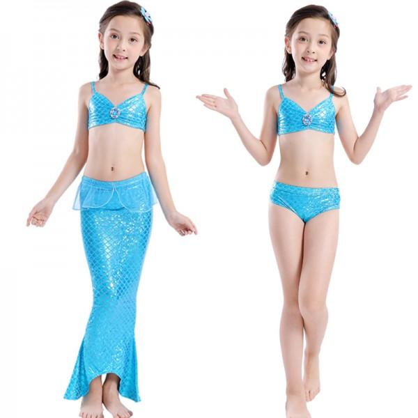 Real Mermaid Tails Dress For Girls Swimming Bathing Suit Mermaid Costume Bikini