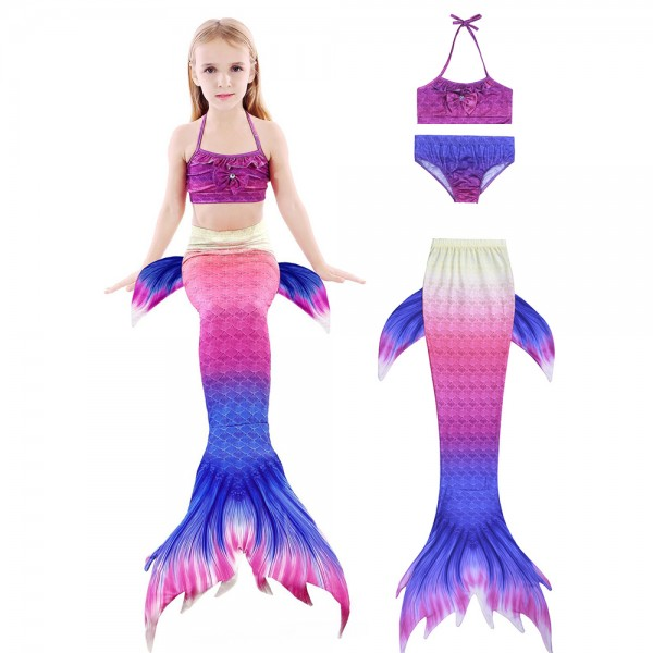 Kids Swimmable Mermaid Tails Bikini Bathing Suit Swimming For Girls Sale