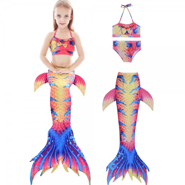 Mermaid Tails For Kids Girls Mermaid Swimsuits Bikini Sets With Tops