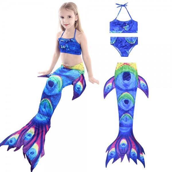Toddler Girls Mermaid Tails Swimsuit Bikini Mermaid Costume