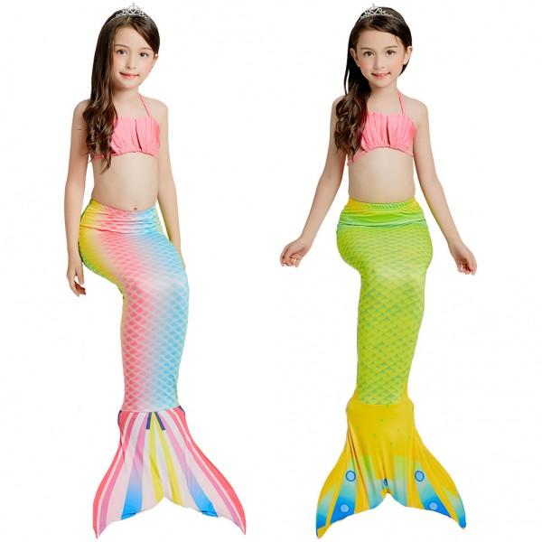 Mermaid Tails For Girls Swimmimg Bikini Mermaid Bathing Suit Set