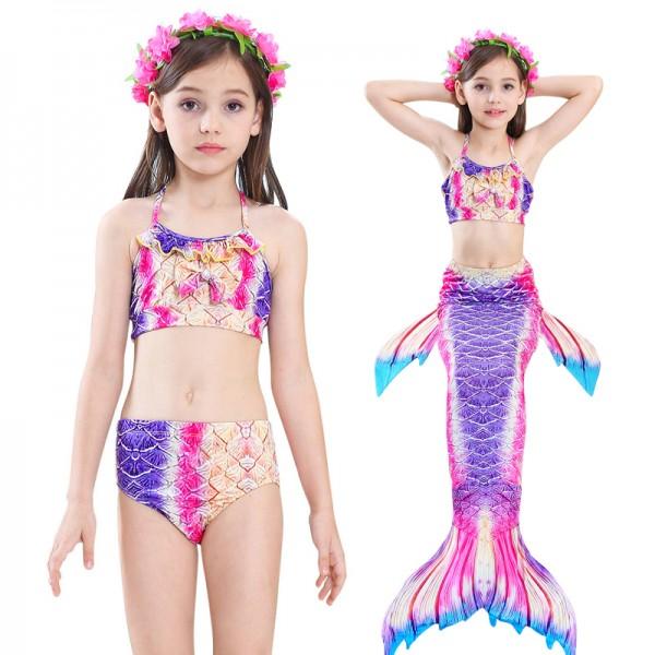 Mermaid Tails For Girls Swimmimg Bikini Pink Mermaid Bathing Suit Set