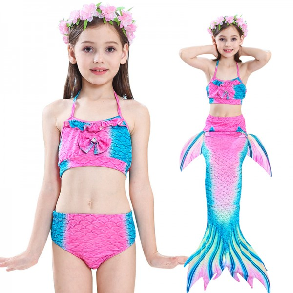 Swimmable Mermaid Tails For Swimming Bikini Swimsuit Set For Kids