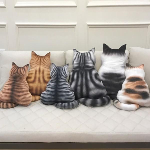 Cat Back Animal Pillow 3d Cartoon Pillow