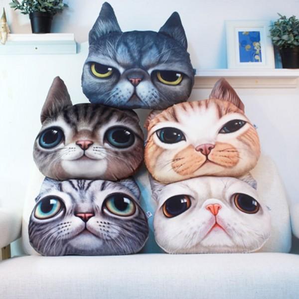 Cat Animal Pillow 3d Cartoon Pillow