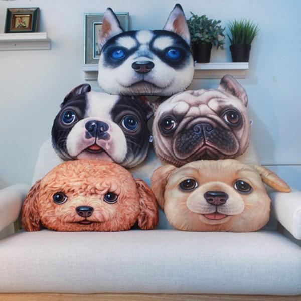 Cute Dog Animal Pillow 3d Cartoon Pillow