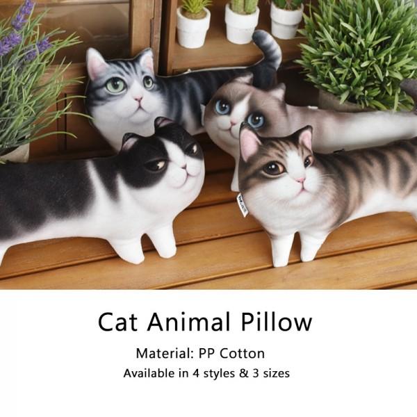 Cute Cat Animal Pillow 3d Cartoon Pillow