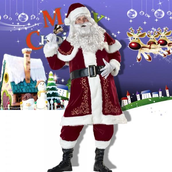 Santa Claus Costume Santa Suit Outfit Full Sets Full Sets