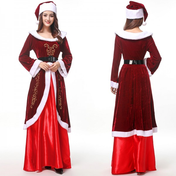 Mrs Claus Outfit Costume Womens Christmas Costumes Full Sets
