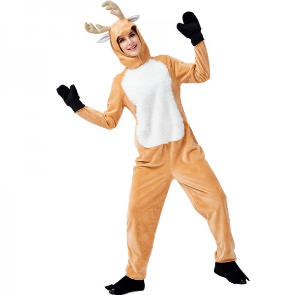 Reindeer Costume Outfit Suit For Adult Christmas Costume
