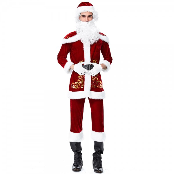 Santa Claus Suit Christmas Costume Outfit For Adult
