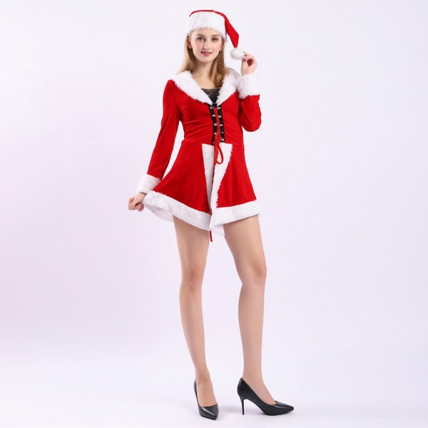 Mrs Claus Outfit Dress Costume Christmas Costumes For Adults