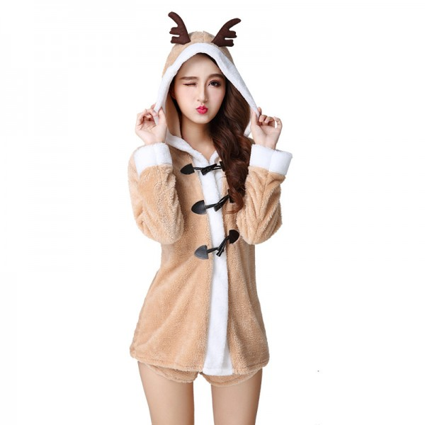 Reindeer Costume Outfit Warm Christmas Costume For Women
