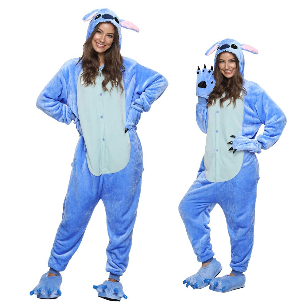 Lilo Stitch Onesie Pajamas Adult Animal Onesies Halloween Costumes Pjsbuy Com