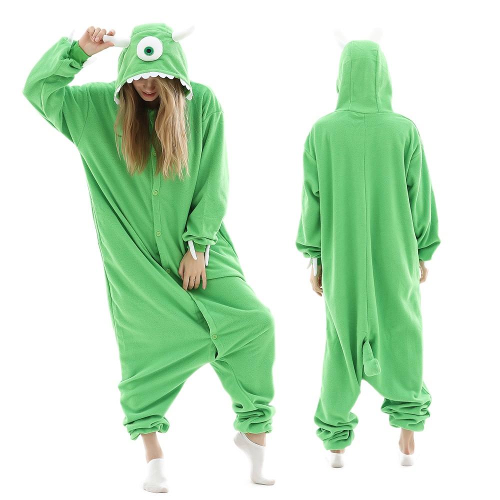 Mike Wazowski Monster Inc Onesie Pajamas For Adult Animal Onesies Halloween Costumes Pjsbuy Com