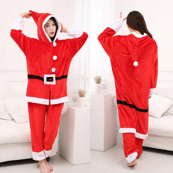 0f423f6c080b Santa Claus Adult Animal Onesie Pajamas Christmas Costume