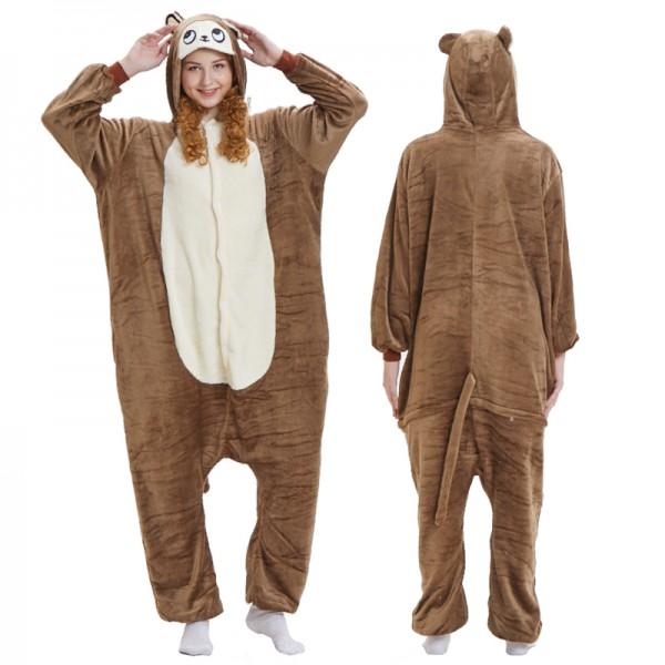1cd540be2cda Brown Monkey Onesie Pajamas   Hundreds Of Adult Animal Onesies Available