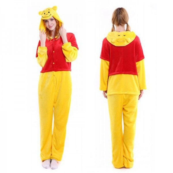 1808f6f3f Winnie the Pooh Onesie Pajamas   Soft   Cozy Adult Animal Onesies
