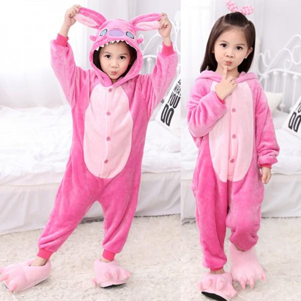 73b8bc879b30 Angel Stitch Kids Animal Onesie Pajamas Lilo   Stitch Cute Costume