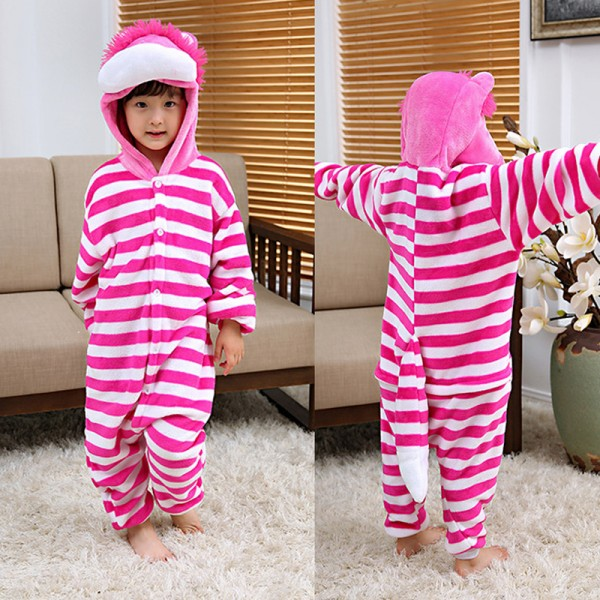 848d78cf4 Cheshire Cat Kids Animal Onesie Pajamas Cosplay Cute Costume